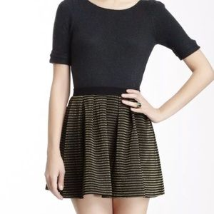 French Connection Lara Lurex Flared Skirt